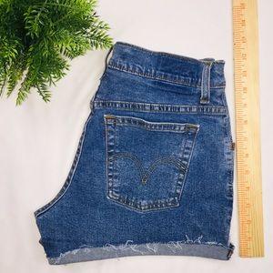 "Pants - 27"" Levi's Custom Jean Shorts High Waisted"